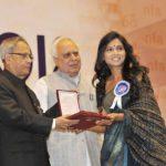 Usha Jadhav winnner of National Film Award for the Best Actress for the movie 'Dhag'