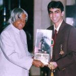 Pankaj Advani Receiving The Khel Ratna Award From Former Indian President A. P. J. Abdul Kalam