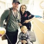 AB de Villiers with his wife and sons