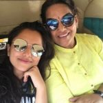 Ahsaas Channa with her mother