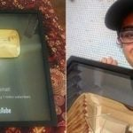 Ajey Nagar with his gold play button