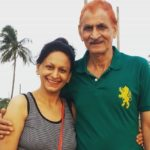 Alka Mogha with her father