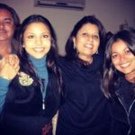 Ameira Punvani with her parents and sister