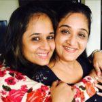 Amita Choksi with her sister