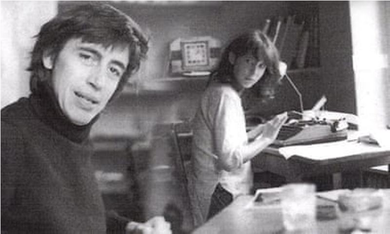 An old picture of Richard Neville and Julie Clarke