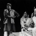 An old picture of S. M. Zaheer during a play