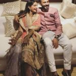 Harish Ahuja Son Anand Ahuja with Sonam Kapoor during their Mehandi Ceremony