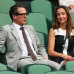 Anna Eberstein with her Husband Hugh Grant
