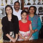 Anoushka Chandra with her family