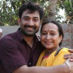 Aravind Akash with his mother