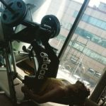 Avdeep Sidhu working out at gym
