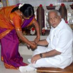 B. S. Yeddyurappa With His Sister P S Prema