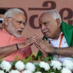 B. S. Yeddyurappa With Narendra Modi