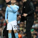 Bernardo Silva with Coach Pep Guardiola
