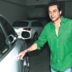 Bobby Deol With His Car Porsche Cayenne