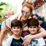 Céline Dion With Her Sons Nelson And Eddy