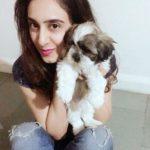 Disha Kapoor with her pet