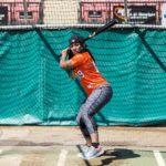 Ember Moon Playing Baseball