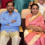 G. Parameshwara With His Wife