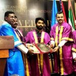 G.V. Prakash Kumar received honorary doctorate for social service from 'St. Andrews Theological University International'