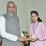 Getting Award From The Governor Of Himachal Pradesh Acharya Dev Vrat