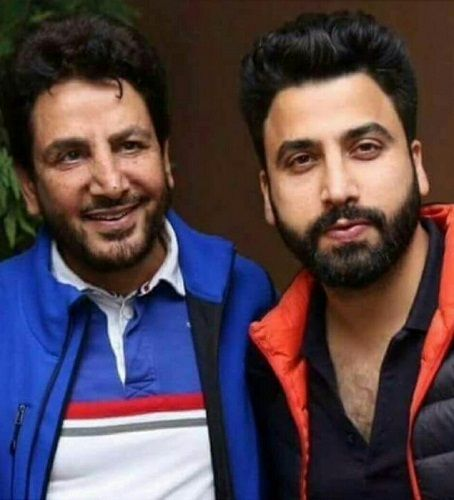 Gurickk G Maan with his father Gurdas Maan