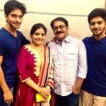 Harsh Rajput with his parents and brother