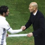 Isco with Zinedine Zidane