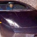 John Abraham In His Car Lamborghini Gallardo