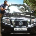 John Abraham With His Car Nissan Terrano SUV