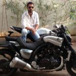 John Abraham On His Bike Yamaha Vmax