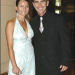 Justin Langer With His Wife Sue