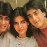 Kumar Gaurav with His wife Namrata dutt and His brother in Law Sanjaya Dutt
