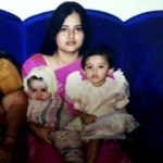 Malvika Sharma (Childhood) with her mother and brother Vedant Sharma (Childhood)