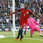 Marcus Rashford playing for England