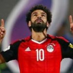 Mohamed Salah playing for the Egypt National Team