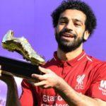 Mohamed Salah winning the English Premier League Golden Boot