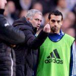 Mohamed Salah with Jose Mourinho