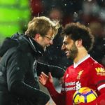 Mohamed Salah with Jurgen Klopp