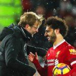 Mohamed Salah with Jurgen Klopp