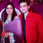 Mukul Harish with his mother
