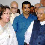 Najma Heptulla With Atal Bihari Vajpayee