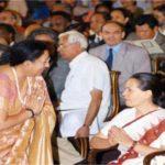 Najma Heptulla With Sonia Gandhi