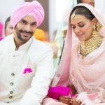 Neha Dhupia and Angad Bedi Marriage Picture