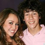 Nick Jonas with Miley Cyrus
