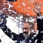Nikol Pashinyan Celebrating