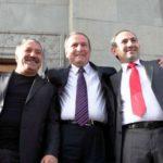Nikol Pashinyan Extreme Right With Levon Ter Petrosyan Center