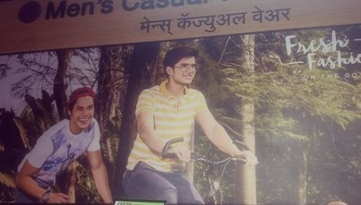Paras Kalnawat in a print advertisement
