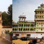 Piramal Gate (left) and Piramal Haveli (right) in Bagar