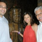 Pooja Kumar With Her Father And Brother